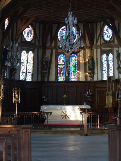 Lumières dans l'église